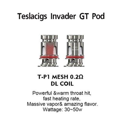 * Coil Teslacigs Invader GT Mesh T-P1 0.2ohm [แท้] ราคาต่อตัวและกล่อง