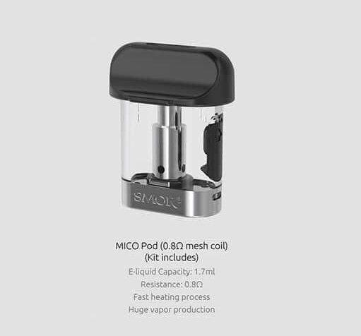 Empty Pod for Smok Mico Pod/ 1 ชิ้น