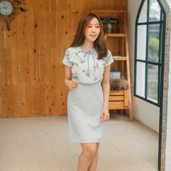 Yara Tweed Curved Dress