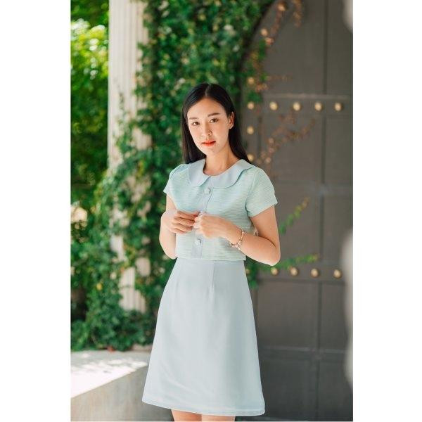 Ellen Collar Button Dress