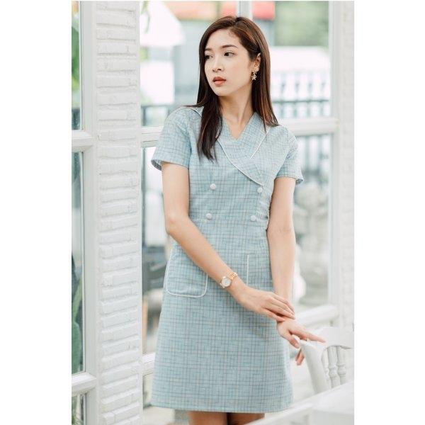 Julia Blue Pocket Dress