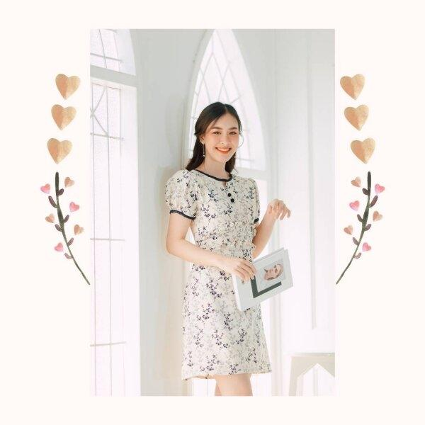 Mami Double Ruffle Floral Dress