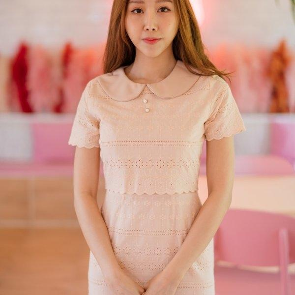 Collar Cotton Lace Dress