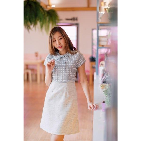 Yara Tweed Curved Dress
