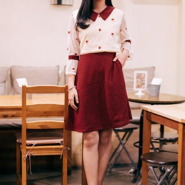 Mercy Tweed Red Dress