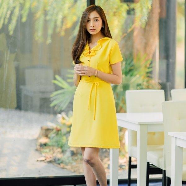 June Yellow Dress