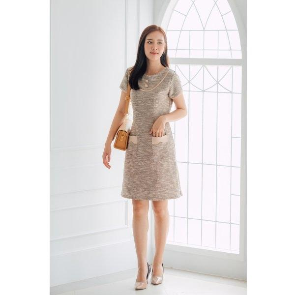 Olender Tweed Pocket Dress