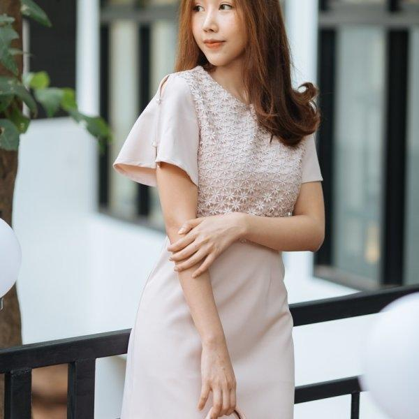 Sandy Pink Lace Dress