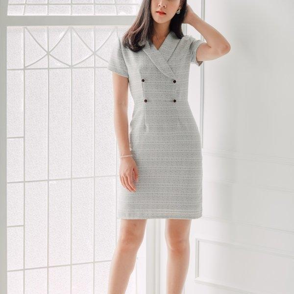 Julia Grey Tweed Dress