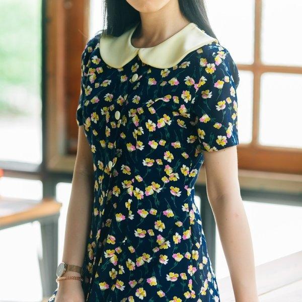 Pailin Collar Cute Dress