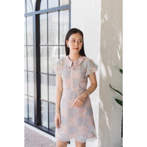 Mabel Two Tone Lace Dress