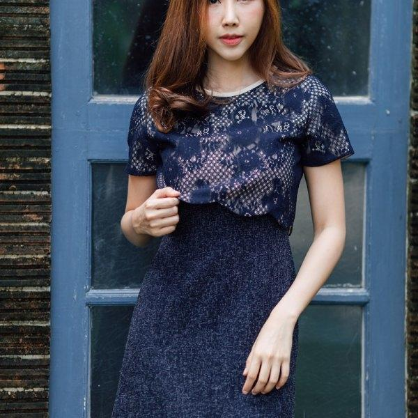 Erin Curved Lace Dress