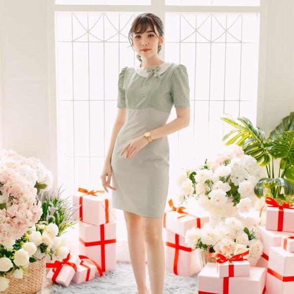 Sora Bow Neck Dress