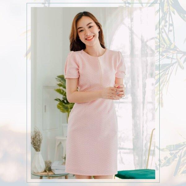 Ira Tweed Pink Dress