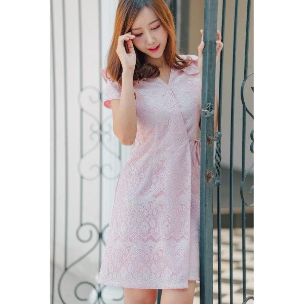 Jane Ruffle Lace Dress
