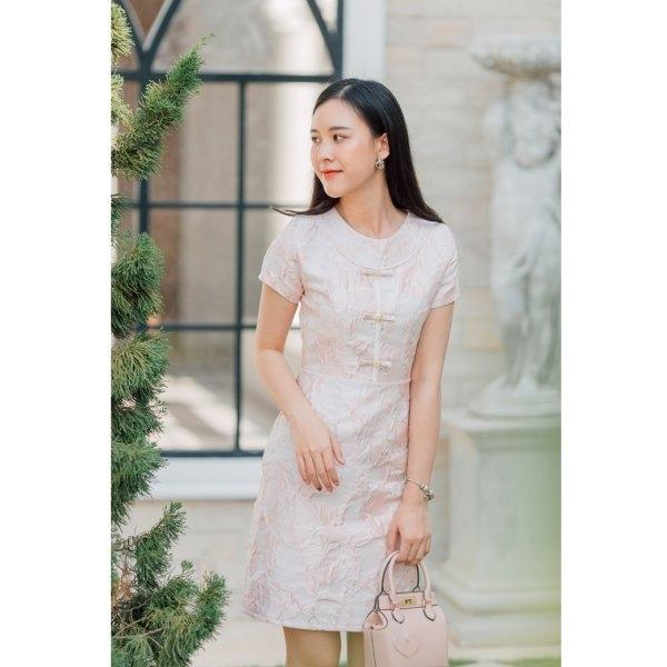Dear Jacquard Pink Dress