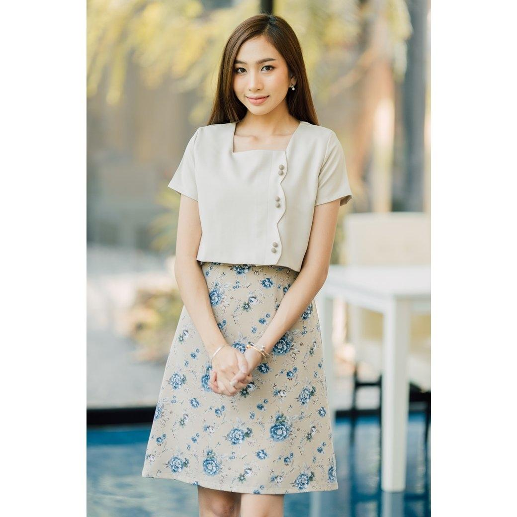 Molly Curved Flora Dress