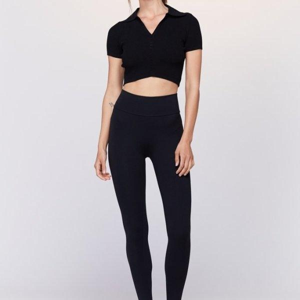 Live The Process - Knit Crop Polo