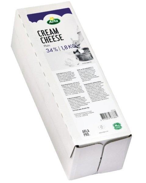 ARLA CREAM CHEESE PLAIN BLOCK 1.8KG 34% ครีมชีส 1.8 Kg. (10500372)