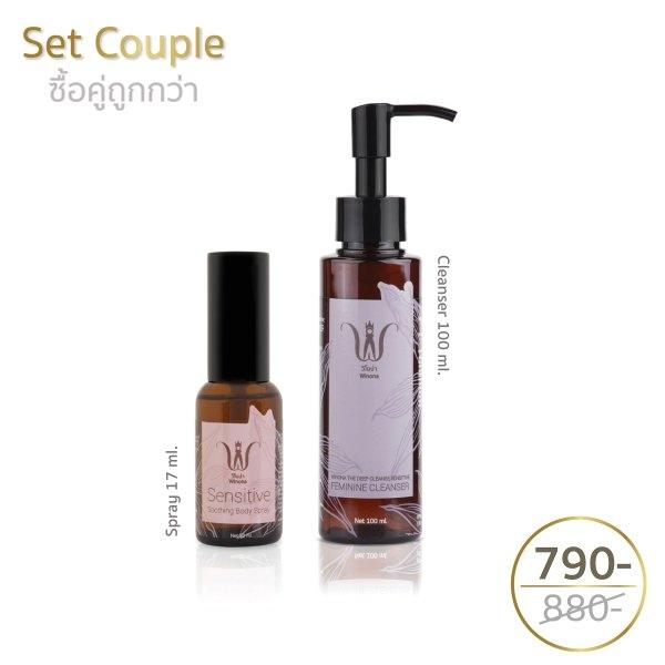 Feminine Cleansing Liquid+ Sensitive Spray 17 ml.