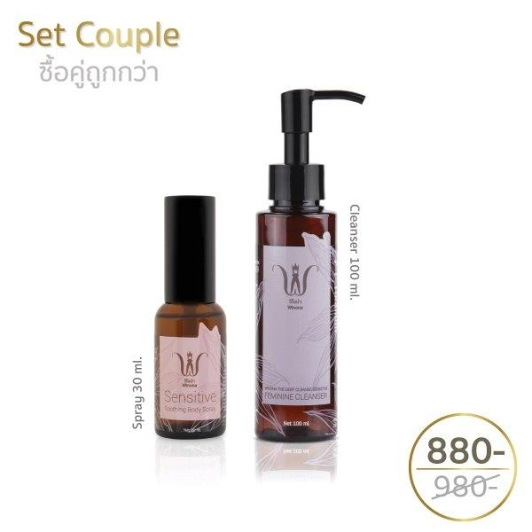 Feminine Cleansing Liquid + Sensitive Spray 30 ml.