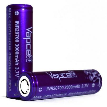 ถ่านชาร์จ Vapcell INR 20700 3000mAh 30A สีม่วง แท้ (ก้อน)