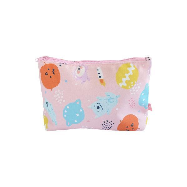 สวีทซัมเมอร์ : กระเป๋าเครื่องสำอาง แบบผ้าแคนวาส : ลาย มาจอรี่ : PC1914