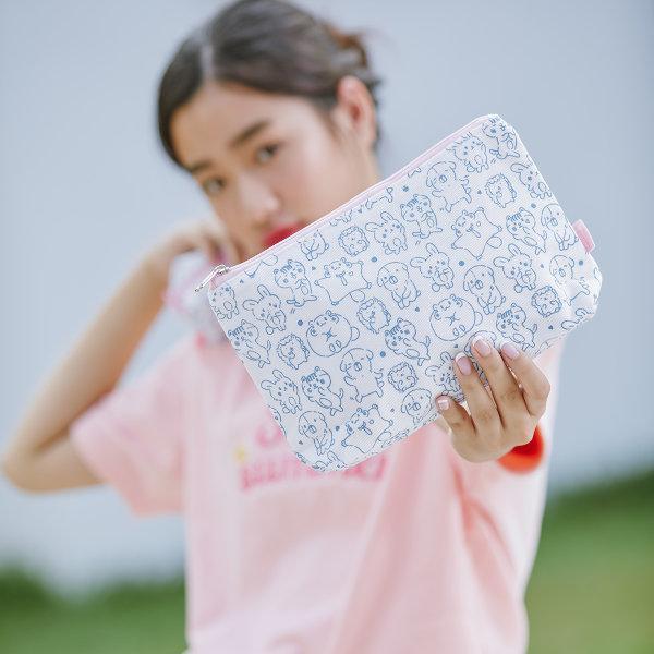 สวีทซัมเมอร์ : กระเป๋าดินสอ แบบผ้าแคนวาส  : ขนาด แอล : ลาย ลิตเติ้ลเอมิโกะ : PC1809