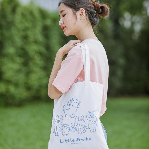 สวีทซัมเมอร์ : กระเป๋าผ้าแคนวาส : ลาย Little Amiko : TB1801