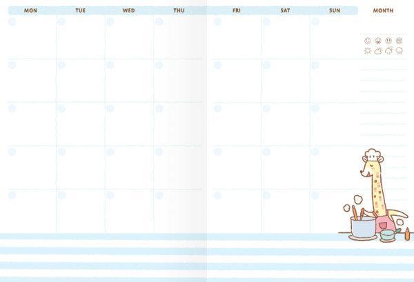 สวีทซัมเมอร์ : สมุดแพลนเนอร์รายเดือนแบบลงวันที่เอง : ขนาด A6 : ลาย เดอะลองเน็คแก๊งค์ : SP1706