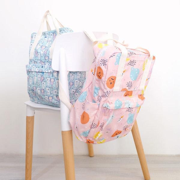 สวีทซัมเมอร์ : กระเป๋าผ้าแคนวาส แบบสะพายหลัง  : ลาย มาจอรี่ : BP1901