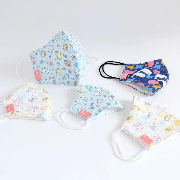สวีทซัมเมอร์ : หน้ากากผ้าคอตตอน ของเด็ก : ลาย ลิตเติ้ลเอมิโกะ (สีขาว)