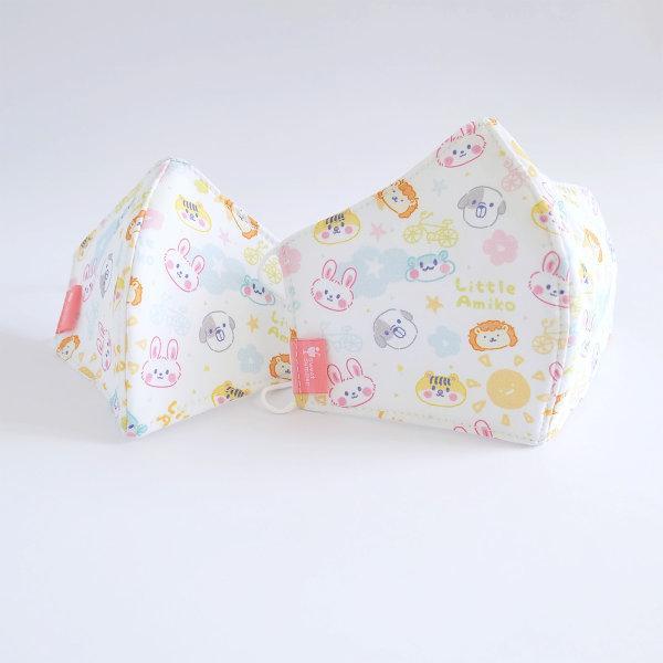 สวีทซัมเมอร์ : หน้ากากอนามัย : ผ้าคอตตอน ของเด็ก : ลาย ลิตเติ้ลเอมิโกะ (สีขาว)