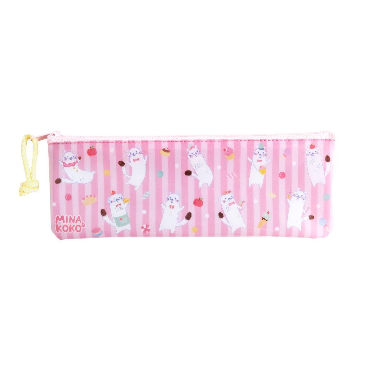 สวีทซัมเมอร์ : กระเป๋าดินสอ แบบ PVC  : ลาย มินะแอนด์โคโค่ : PC1908