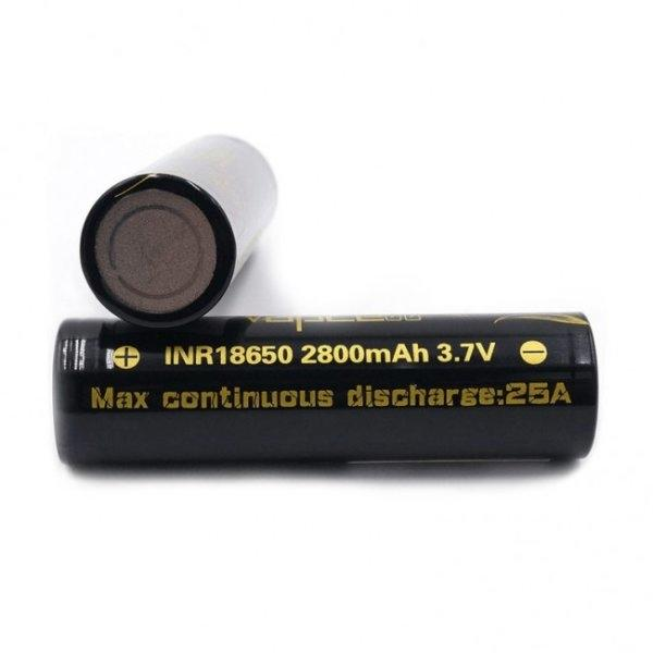 Import - 2Pcs Vapcell INR 18650 2800mAh 25A Battery (Black)
