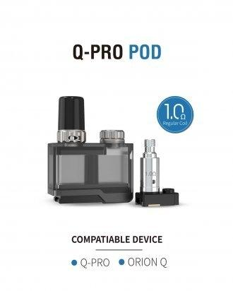 Import - Lost vape Orion Q-Pro Pod 2ml Cartridge with 1.0ohm