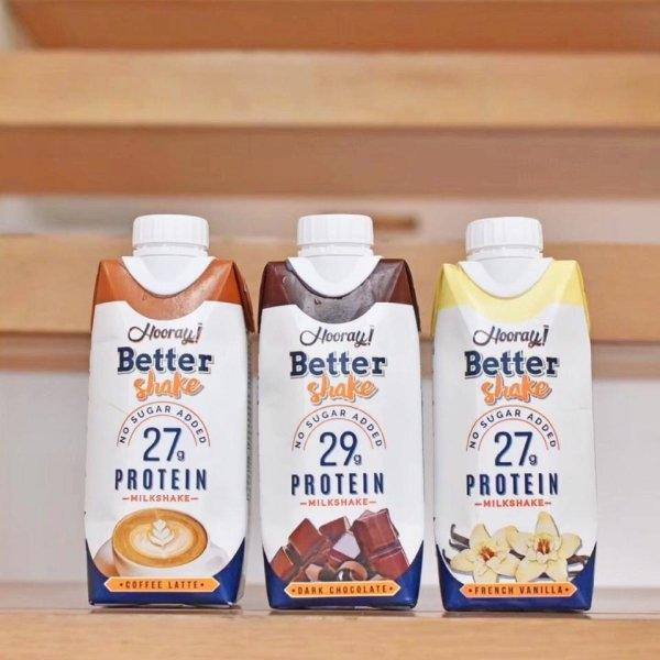 [2 แถม 1] Hooray Better Shake Milk Coffee Latte ขนาด 330 ml.