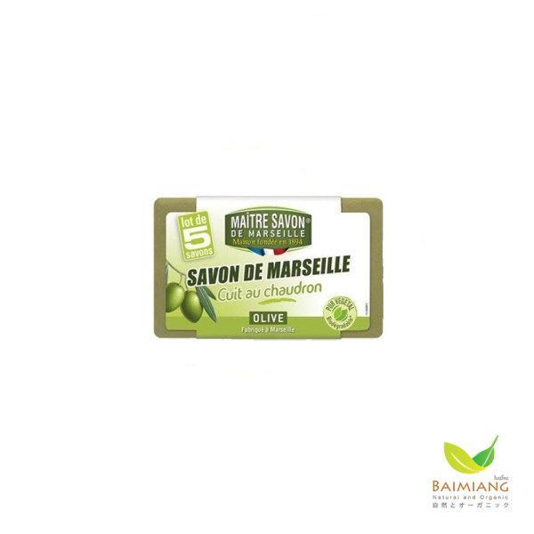 Maitre Savon De Marseille Cuit Au Chaudron Olive Lot De 5 Savons