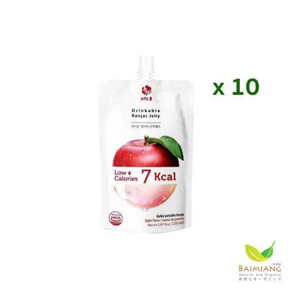 [ยกแพ็ค] Jelly B เยลลี่ผสมบุก รสแอปเปิ้ล ขนาด 150 ml.