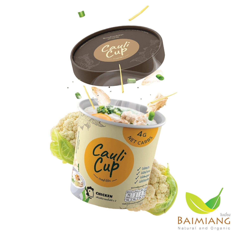 CauliCup โจ๊กคัพ กระหล่ำโจ๊ก รสไก่ 20 g. คีโต KETO
