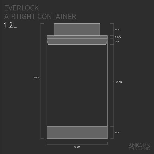 Ankomn Everlock airtight container 1.2L