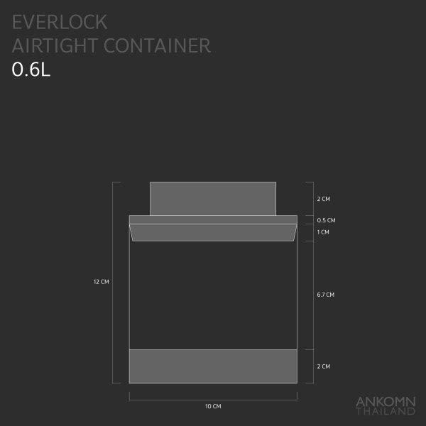 Ankomn Everlock airtight container 0.6L