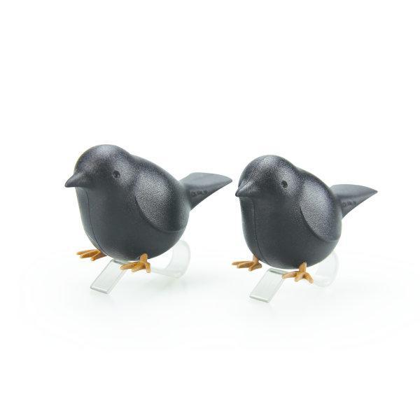 Qualy นกหนีบผ้า สีดำ