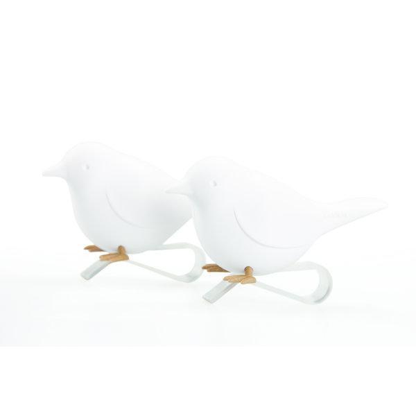 Qualy นกหนีบผ้า สีขาว