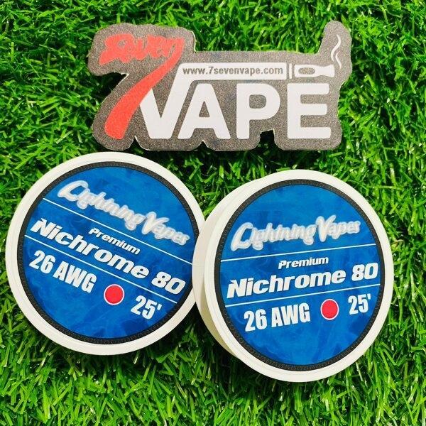 ลวดม้วนอเมริกา Lightning Vapes Premium Nichrome Ni80 25FT USA