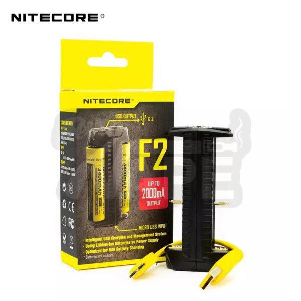 เครื่องชาร์จถ่าน Nitecore F2 Charger 2 ช่อง ชาร์จแบบ USB [ แท้ ]
