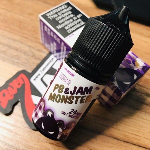 พีบีแจมองุ่นซอลนิค | PB & Jam Monster Salt Nic Grape 30ml