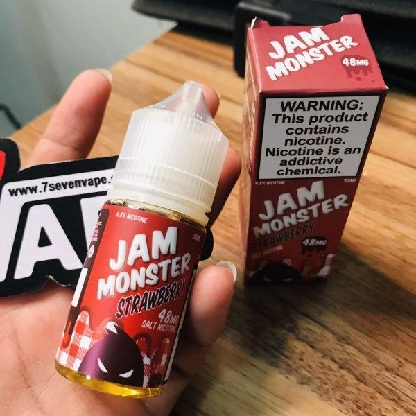 แจมแดงซอลนิค | Jam Monster Salt Nic Strawberry 30ml