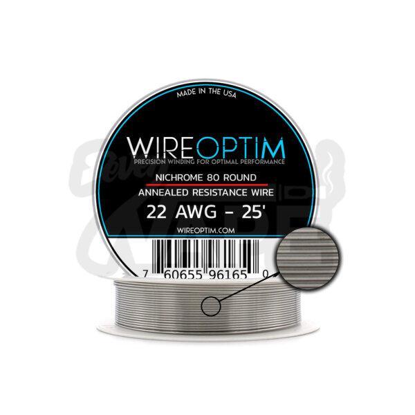 ลวดม้วนอเมริกา WIREOPTIM Nichrome Ni80 22AWG 25FT