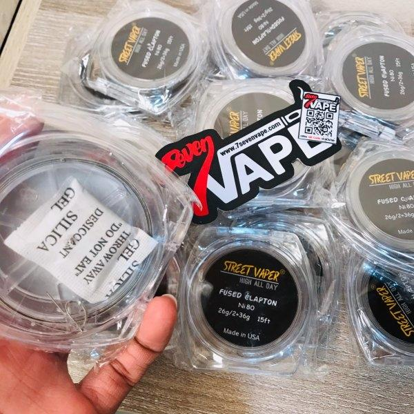 ลวดฟิวแคปตั้น Street Vaper High All Day Fused Clapton Ni 80 15Ft Made in USA